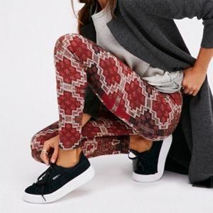 Free People Byzantine Sweater Legging Terracotta
